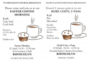 2019 Easter COFFEE MORNING Bilingual 2018 A5